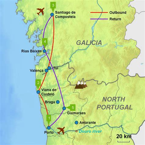 camino de santiago portugal porto santiago caminos touring holidays in spain