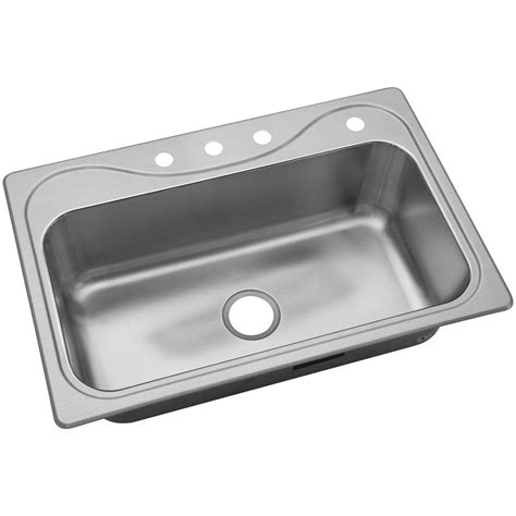 Sterling Kitchen Sink Sterling Southhaven Drop In Stainless Steel 33 In 4 Single Bowl Kitchen Sink 37047 4 Na