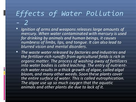 6 Effects Of More Water by Water Pollution