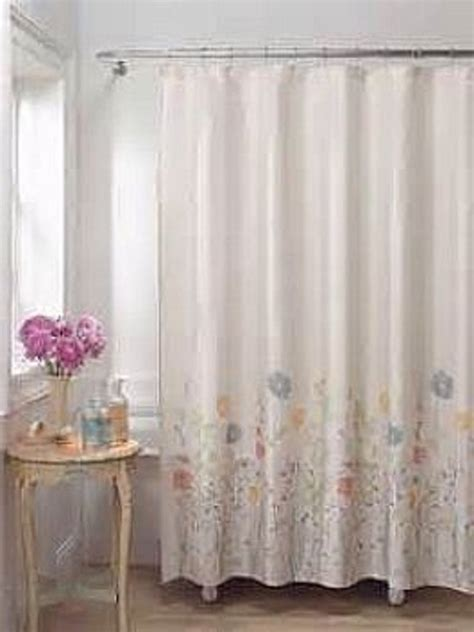 shower curtains com flower fields bathroom fabric shower curtains hookless