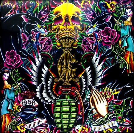 download ed hardy tattoos wallpapers to your cell collages of tattoos collages abstract background
