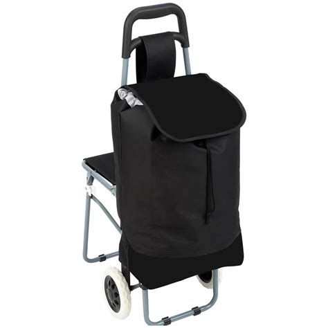 Shopping For Chairs by Maxam 174 Trolley Bag With Folding Chair 235797 Gear