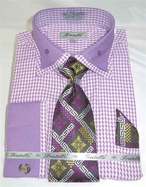 pattern for french cuff fratello frv4136p2 purple men s french cuff dress shirt