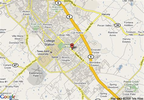 texas college map map of ez travel inn college station
