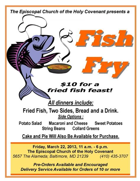 fish fry flyer powerpoint template 6 best images of fish