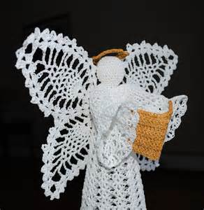 crochet christmas angel tree topper by draiguna on etsy
