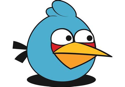 angry bid blue angry bird vector
