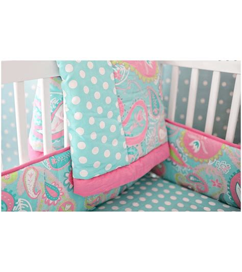 My Baby Sam Pixie Baby Aqua 3 Piece Crib Bedding Set