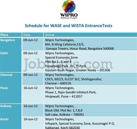 wipro wista wase freshers employee referral drive walkin jun 9 16