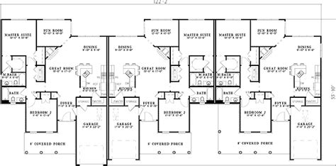 Triplex Floor Plans triplex with columns and dormers 59595nd 1st floor