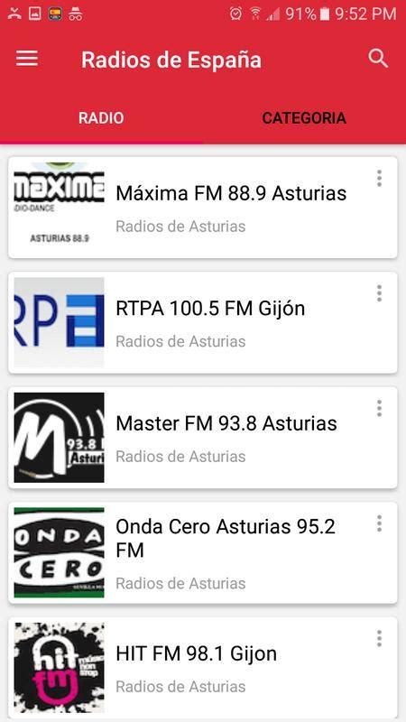 emisoras de radio españa en directo radios de espa 241 a fm am emisoras espa 241 olas apk download