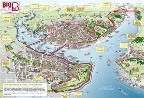 map of istanbul map of istanbul tourist attractions sightseeing tourist tour