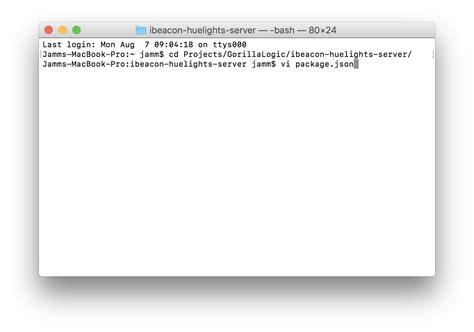 vim node js tutorial ibeacons and hue lights tutorial part 2 implementing a