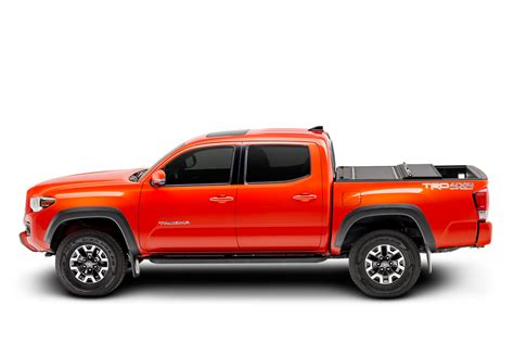 toyota tacoma hard bed cover bakflip mx4 2016 2017 toyota tacoma hard folding tonneau cover 5 bed 448426