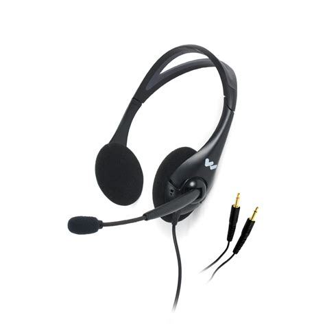Headset Yang Ada Mic Dual Ear Noise Cancelling Headset Microphone Mic 045