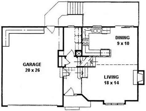 quad house plans quad level house plans small home with 3 bdrms 1225 sq ft floor plan 103 1071