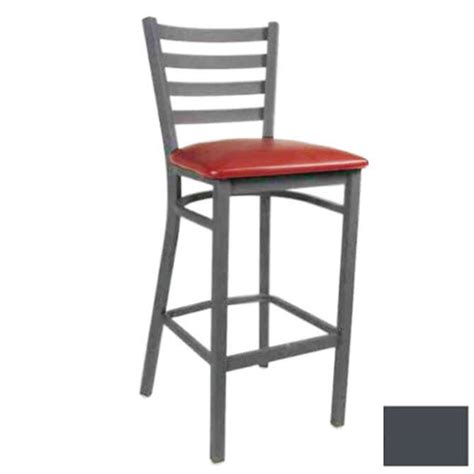 Ladder Back Bar Stools With Seats by Modesto Graphite Gray Metal Ladder Back Bar Stool With