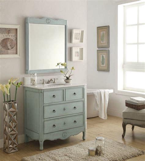 Antique Blue Bathroom Vanity by Adelina 34 Inch Vintage Bathroom Vanity Light Blue Finish