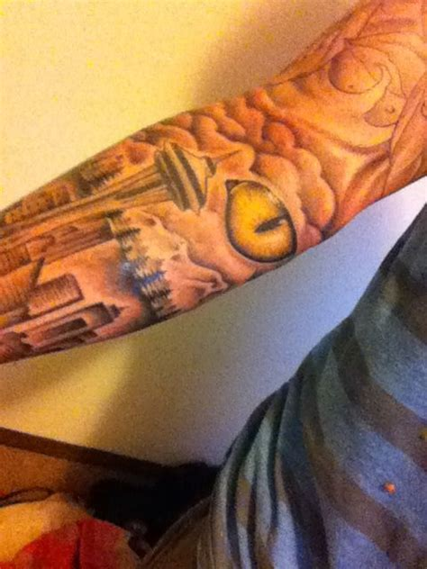 space needle tattoo seattle space needle cat eye seattle space needle
