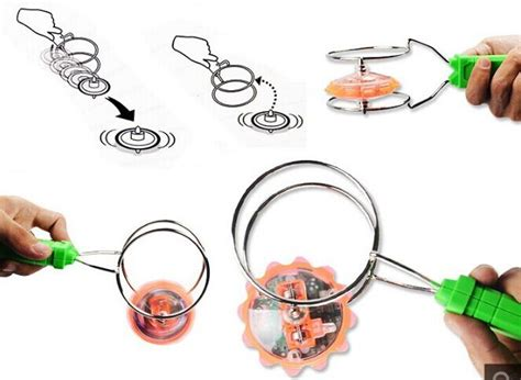 Smiggle Light Up Magnetic Spinner magnetic gyro wheel yoyo top rail science