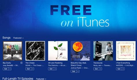 music television shows apple offers free music tv shows in new free on itunes
