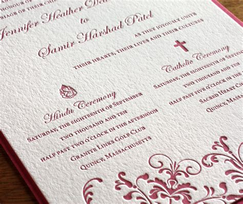catholic wedding invitation cards religious letterpress wedding invitation cards catholic weddings becoming multicultural