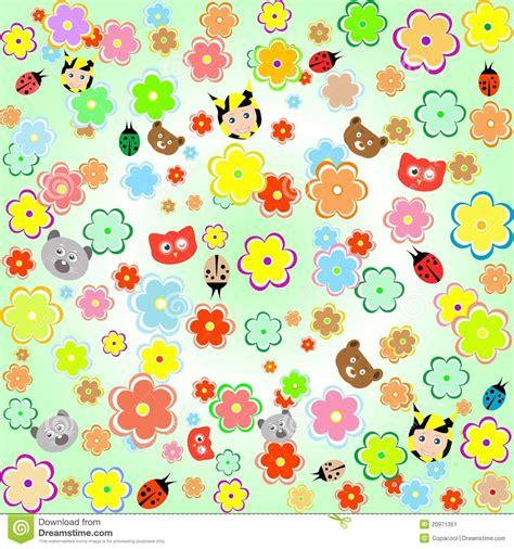 afbeelding bloemen met dier mooie achtergrond met dieren en bloemen vector illustratie