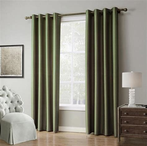drapes for bedroom 1 piece solid color window curtains for living room