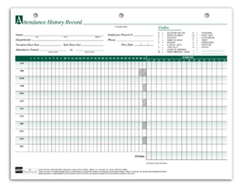 Attendance History Card Free Template by Search Results For Free Blank Yearly Employee Attendance