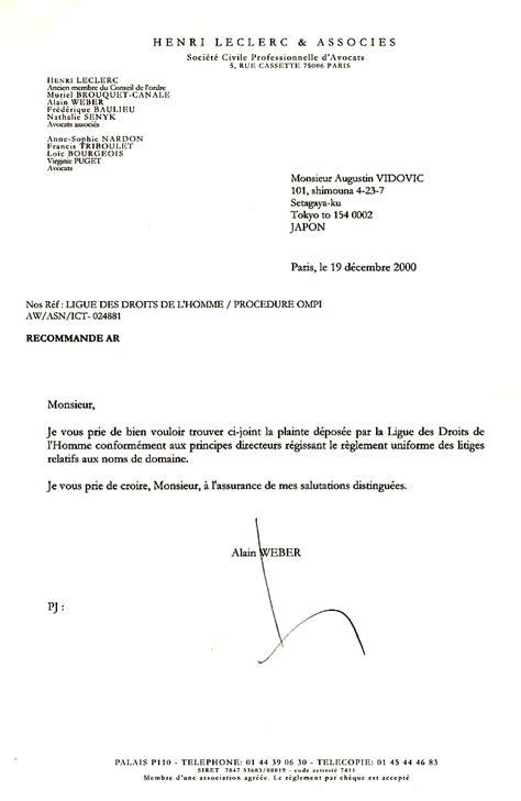Présentation De La Lettre Officielle Modele Lettre Officielle