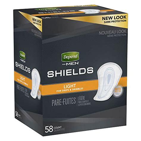 depend shields for men light absorbency 58 count depend shields for men light absorbency 58 ct buy