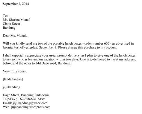 Contoh Surat Sakit Kirim Ke Sekolah by Nia Kania Nurrohmah Surat Order Letter Bahasa Inggris