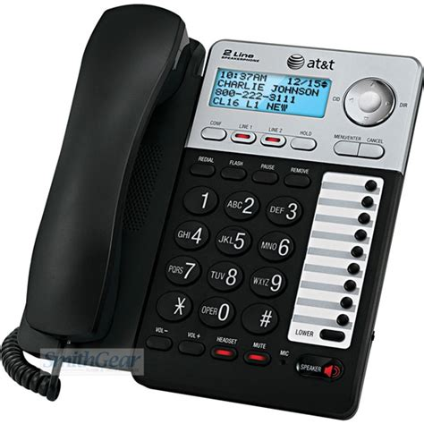 att ml17929 2 line speakerphone with caller id call waiting