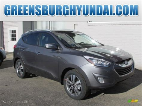 hyundai tucson 2014 blue 2014 shadow gray hyundai tucson limited awd 92008294