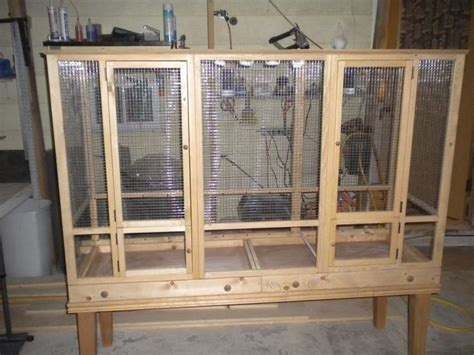 building custom cage safe lumber wire help parrot