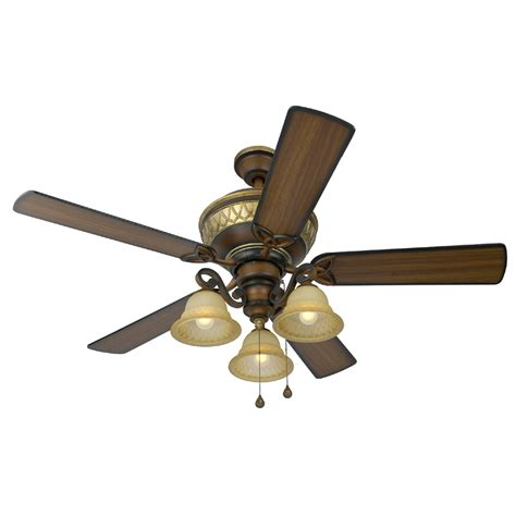 harbor breeze ceiling fans with lights shop harbor breeze rutherford 52 in walnut multi position