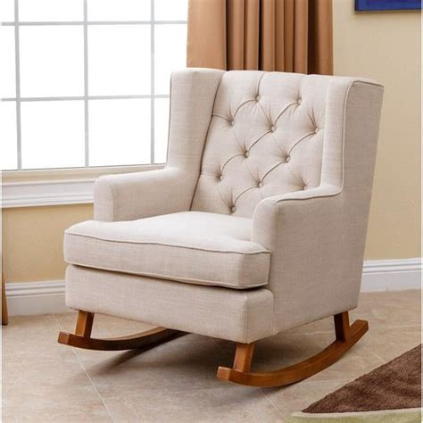 saic quantam rocking chair modern chairs living room chairs and saic beige quantam rocking chair