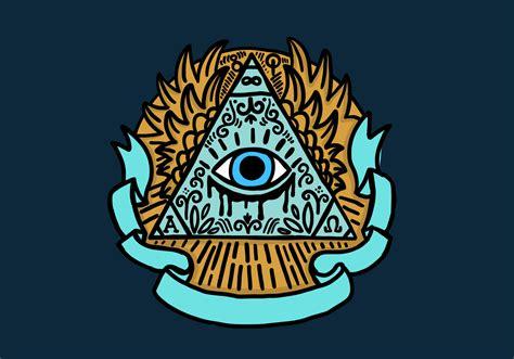 illuminati eye illuminati eye pyramid free vector stock