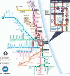 Chicago Line Map by Cta Train Lines Map Bing Images