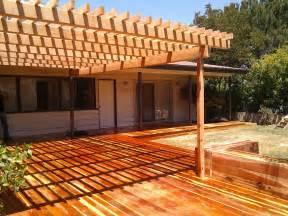 los angeles decks by yourdeckbuilder com redwood deck and pergola monterey park california