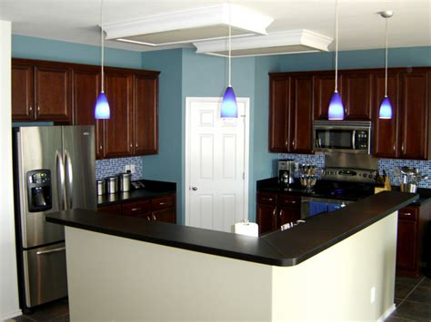 Light Cherry Kitchen Cabinets by Home Design Interior Kitchen Colors Blue Kitchen