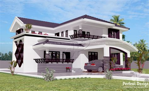 Modern 4 Bedroom Home Design Kerala Home Design Home Desig