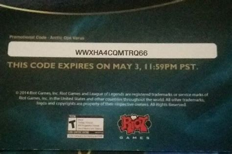 c2e2 league of legends arctic ops varus and riot ward skin codes max level - League Of Legends Code Giveaway