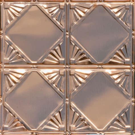 4x4 Ceiling Tiles by Checkered Deco Copper Ceiling Tile 1205 Traditional