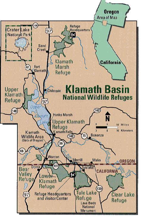 map of oregon klamath falls wildlife refuges of the klamath basin explore