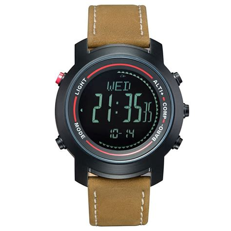 spovan outdoor digital watches leather band mg 01 sports