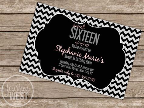 sweet 16 birthday card template free printable sweet 16 invitations invitation