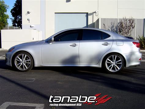 lexus is 250 lowered tanabe sustec nf210 lowering springs reviews