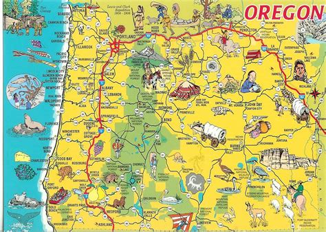 oregon road map oregon map oregon state map oregon state road map map of oregon chainimage