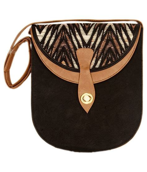 Slingbag Button buy igenie black magnit button sling bag at best prices in india snapdeal